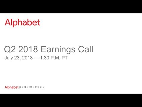 Alphabet Inc.'s (GOOG) CEO Sundar Pichai on Q1 2019 Results - Earnings Call Transcript