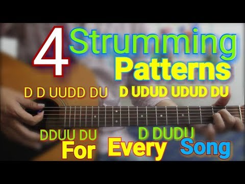 4 Strumming Patterns for Every song PLAY 95% songs - Easy Hindi guitar lesson beginners