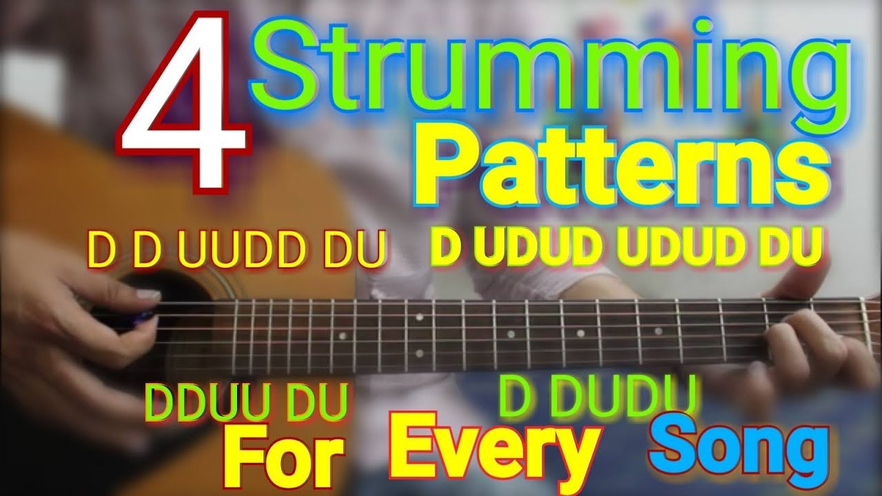 4 Strumming Patterns For Every Song Play 95 Songs Easy Hindi