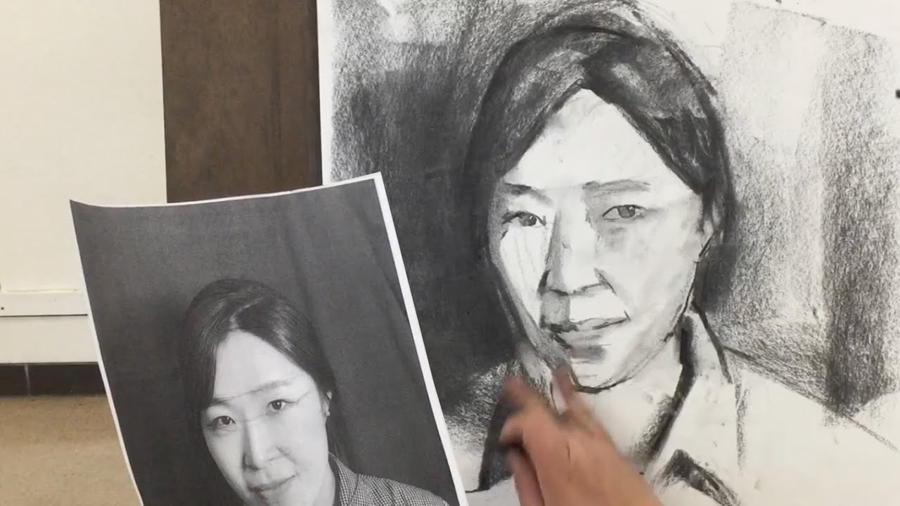 how to draw a portrait from photo youtube