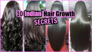10 INDIAN HAIR GROWTH SECRETS!! │ HOW TO GROW LONG, THICK, SHINY, GLOSSY HAIR FAST!!