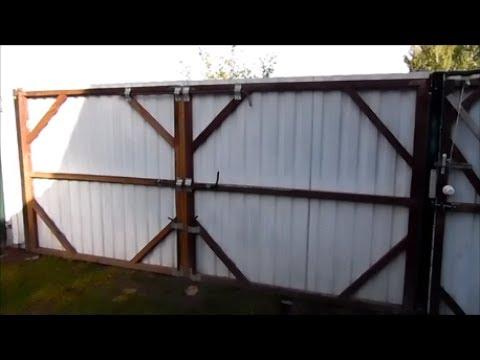 видео: как сделать ворота своими руками дешево быстро