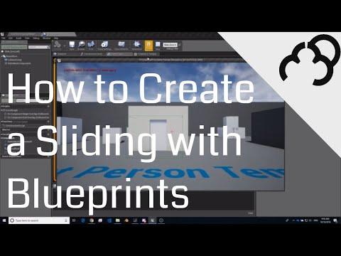 UE4 - Sliding Door -  Unreal Engine 4 Blueprints Tutorial