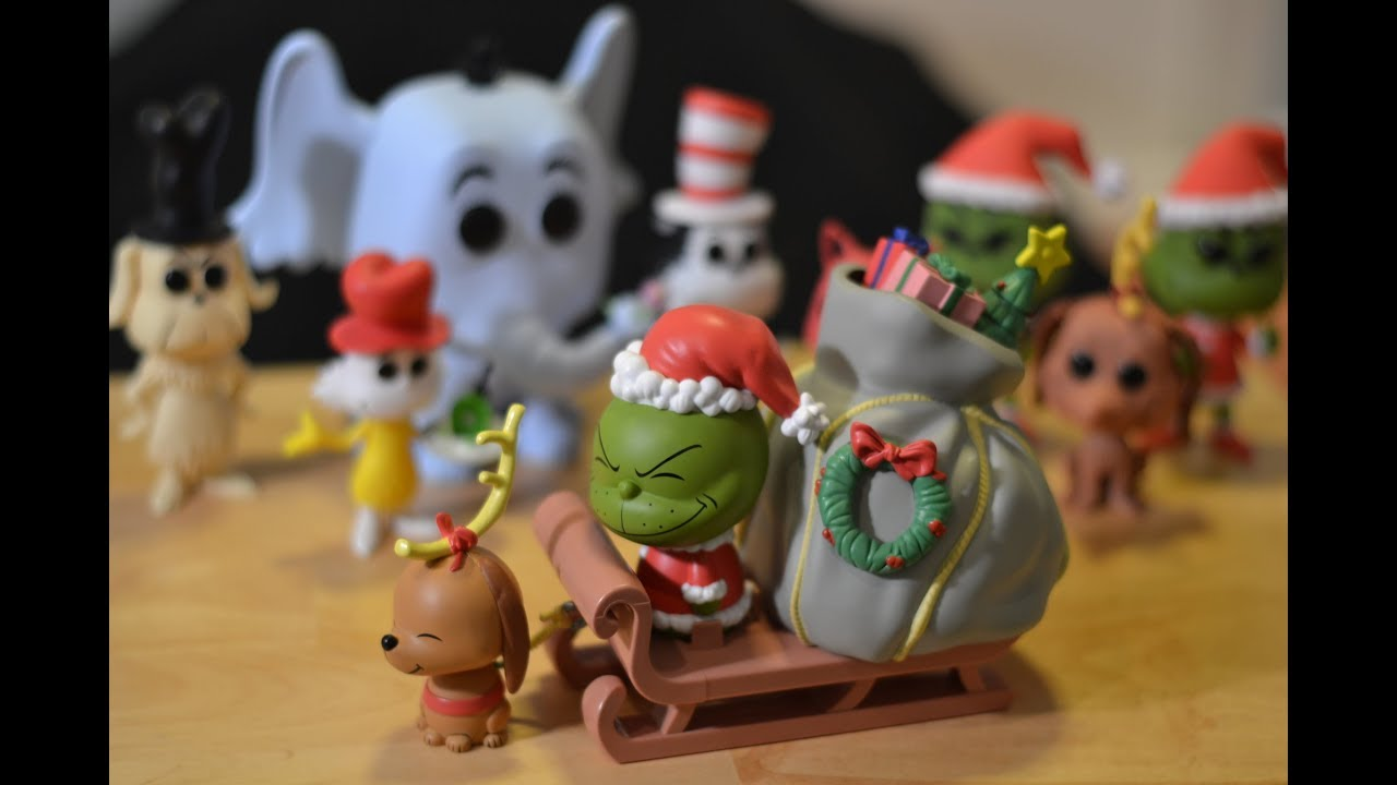 38e91769170 Funko DORBZ RIDEZ THE GRINCH   MAX w  SLEIGH and Funko POP DR.SEUSS  COLLECTION! Unboxing   review!
