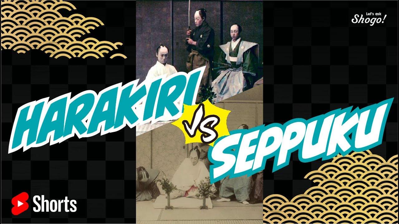 "[1-min lesson]  ""Harakiri"" and ""Seppuku"": What are the 3 main differences? #Shorts"