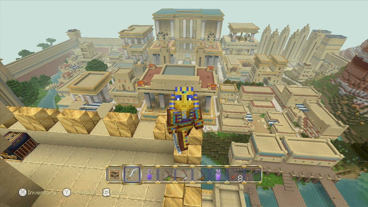Minecraft Egypt Map.Minecraft Egyptian Mythology Mash Up Pack 12 Disc Locations Youtube
