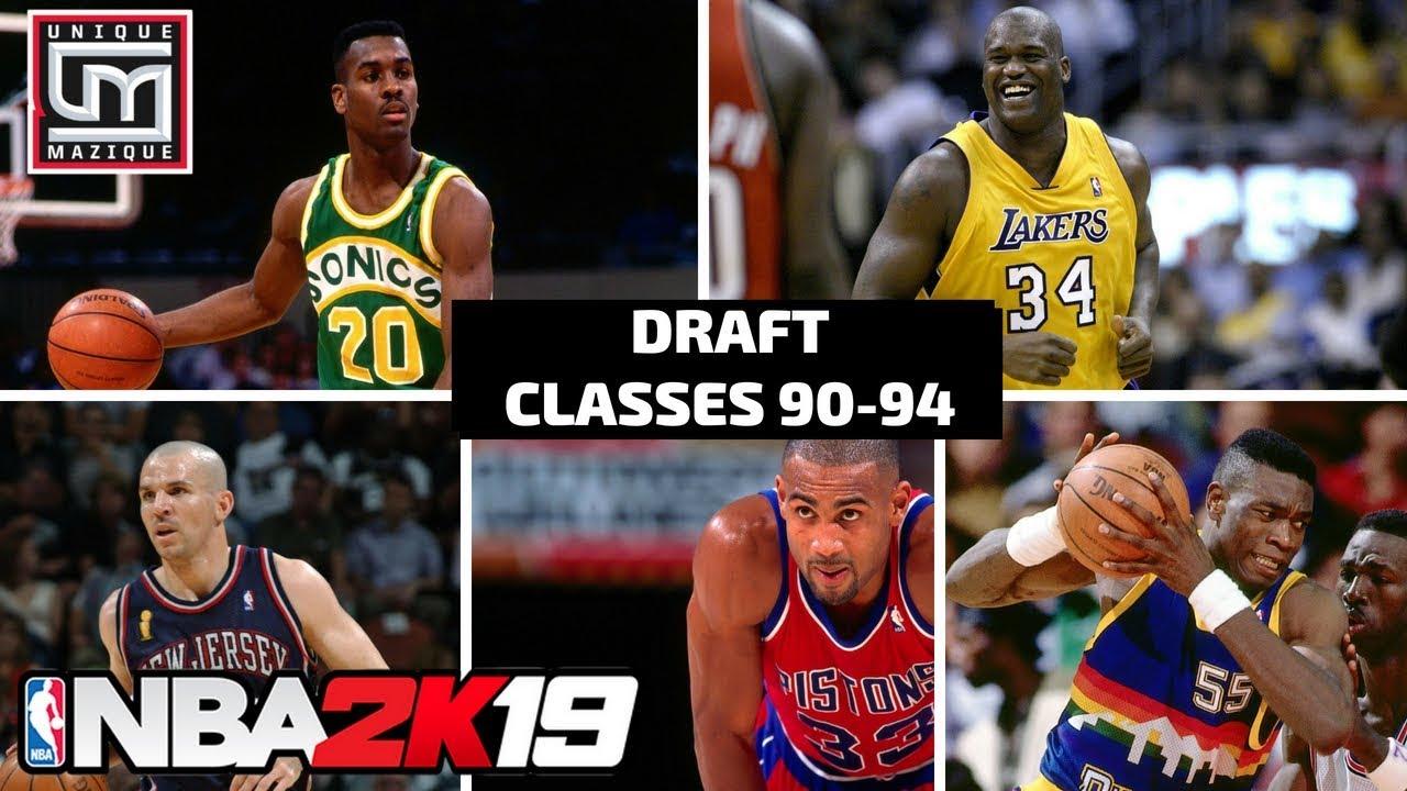 NBA 2K19 | MyLeague | Historic Draft Classes Preview (1990-94)