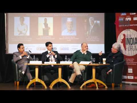 Politics Panel - Sambit Patra, Sachin Pilot, Manish Sisodia, Suhel Seth - LIF 2016 - LSE