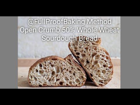 How To Make A 50% Whole Wheat Sourdough Bread