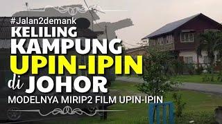 SERASA JALAN Keliling Kampung Rumah Upin-Ipin di Kluang Johor • Jalan Desa di Malaysia • Beli Es ABC