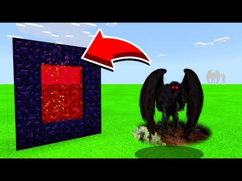 How To Make A Portal To MOTHMAN In Minecaft Pocket Edition/MCPE