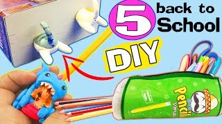 5 STATIONARY SUPPLIES DIY PROJECTS  Awesome how to make Compilation 2017 craft tutorial