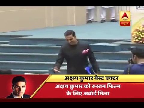 Actor Akshay Kumar recieves national award for best actor in the film Rustom