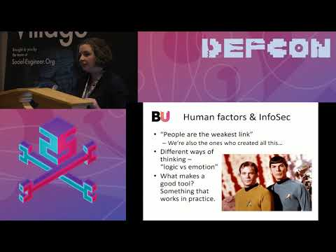 DEF CON 25 SE Village - Helen Thackray - Hackers Gonna Hack , But Do They Know Why?