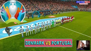 PES 2021 - Denmark vs Portugal UEFA EURO 2021 - Full Match - All Goals HD - Gameplay PC