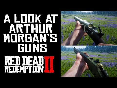 [ASMR] A Look At Some Of Arthur Morgan's Guns (Red Dead Redemption 2)