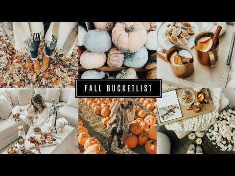 FALL BUCKETLIST | 5 THINGS TO DO IN THE FALL