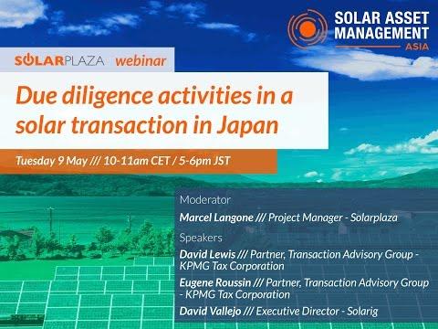 Solarplaza Webinar - Due Diligence Activities in a Solar Transaction