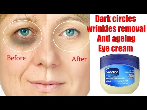 Dark circles, wrinkles removal, anti ageing eye cream DIY by herbalist tips