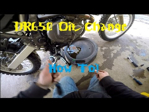 How To! 1996-2016 DR650 Oil Change