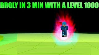 3 Min Brolys With A level 1000?! | Roblox: Dragon ball Z final stand