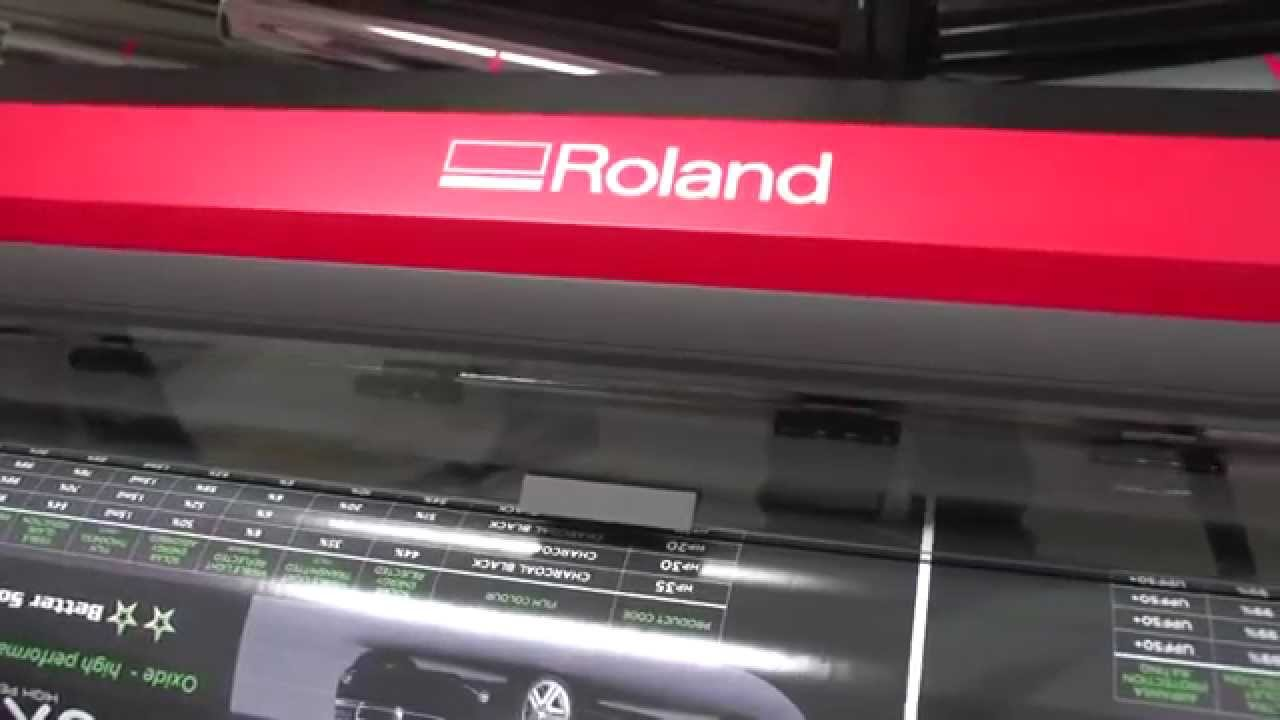 rf 640 wide format printer review from grange graphics youtube