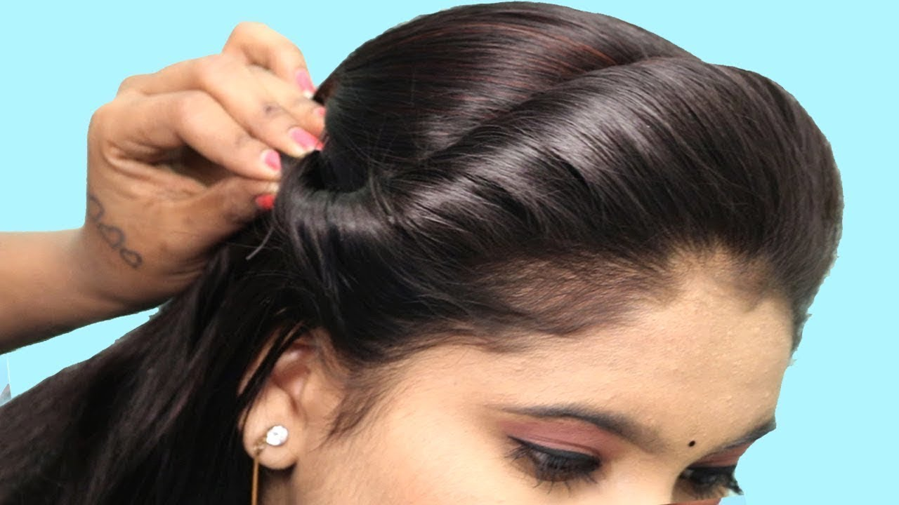 Quick And Easy College Party Hairstyle Front Hairstyle Easy Party Hairstyle Hair Style Girls Youtube
