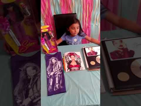 Selena birthday gifts and memorabilia.