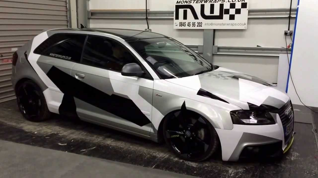 Camo Wrapped Monsterwraps Audi On Air Lift Performance Air