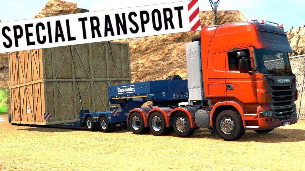 euro truck simulator 2 special transport dlc 44 ton. Black Bedroom Furniture Sets. Home Design Ideas