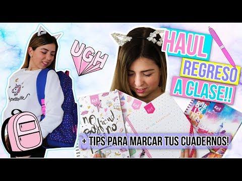 ¡HAUL VUELTA A CLASES 2018 + TIPS PARA MARCAR TUS CUADERNOS! || Bianki Place ♡