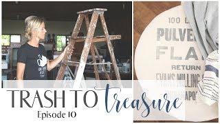 Trash To Treasure Video 10 ~ Wooden Ladder Idea ~ Wire Spool Project ~ Diy Ottoman