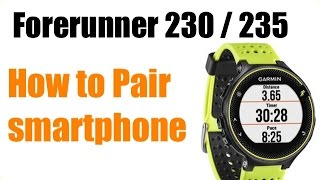Garmin Forerunner 230 / 235 - How To Pair with iPhone Garmin Connect ! FEATURE REVIEW !
