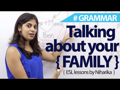 How to talk about your family - Free English Lesson