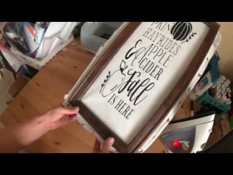 How to Make a Reverse Canvas with Your Cricut Explore Air 2, HTV, and Your Iron!