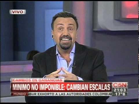 C5N - NOCHES ARGENTINAS: CAMBIAN ESCALAS DEL MINIMO NO IMPONIBLE de YouTube · Duración:  6 minutos 6 segundos