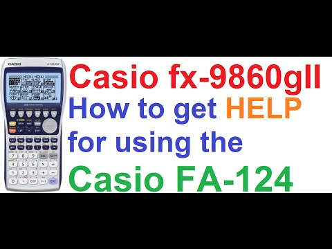 Casio fx-9860gII Graphing Calculator #2: How to Get Help for Using Casio FA-124 PC Link Software