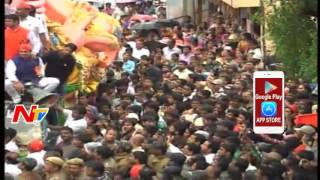 Live Updates : Balapur Ganesh Laddu Auction 2016 || #GaneshNimajjanam || NTV
