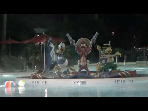 All Star Music Pool On A Cold Night At Walt Disney World