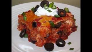Tex Mex Chicken Lasagna