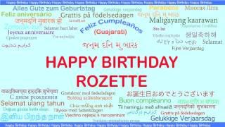 Rozette   Languages Idiomas - Happy Birthday