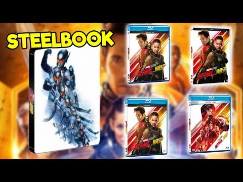 PORTADAS (CARATULAS) Ediciones de Ant-man and the Wasp Bluray DVD Steelbook