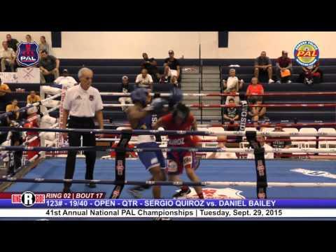 41st Nat. PAL Boxing Tournament   SERGIO QUIROZ vs. DANIEL BAILEY