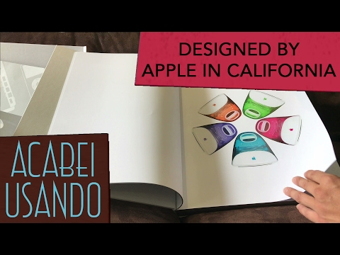 Designed by Apple in California Unboxing Large Book Livro Grande