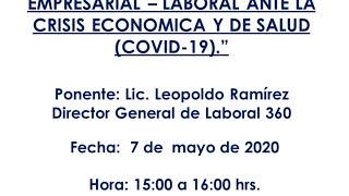 """""""Programa de acción empresarial- Laboral ante la Crisis Económica y de Salud, #COVID19."""""""
