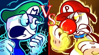 Luigi on Fire vs Icy Mario - Super Mario Hot vs Cold Challenge Pencilanimation Animated Film