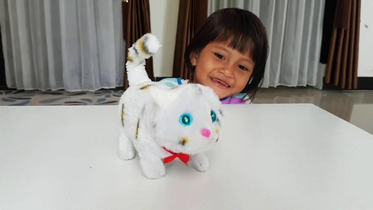 Unboxing Mainan Kucing Mainan Anak Anak Lucu Bisa Bergerak Dan Bersuara