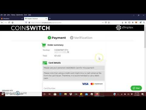How To Buy Ethereum With Metamask Wallet With Coinswitch