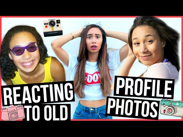 REACTING TO OLD PROFILE PICTURES | MyLifeAsEva