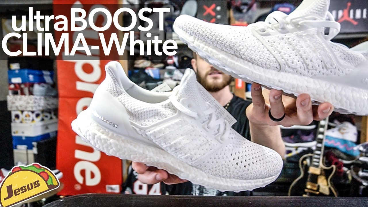 9856b0f5266364 Ultra Boost Clima in White + Supreme RAFFLE! - YouTube